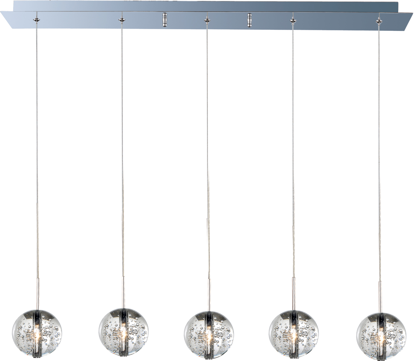 orb 5 light pendant linear pendant maxim lighting