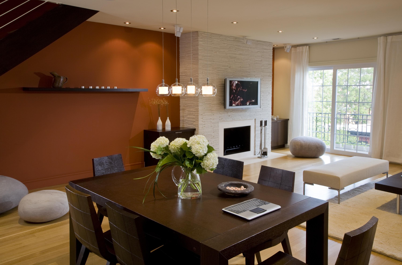 Обеденный стол в гостиной дизайн