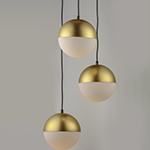 Half Moon LED 3-Light Pendant