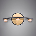 Button 3-Light LED Wall Sconce