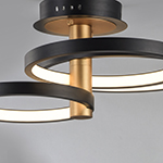Hoopla LED Semi Flush Mount