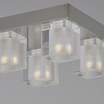 Blocs LED 4-Light Flush Mount