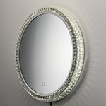 LED Crystal Round Mirror