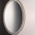"24"" x 31.5"" Oval Crystal LED Mirror"