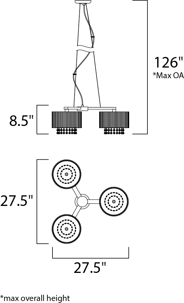 spiral 3-light pendant - multi-light pendant