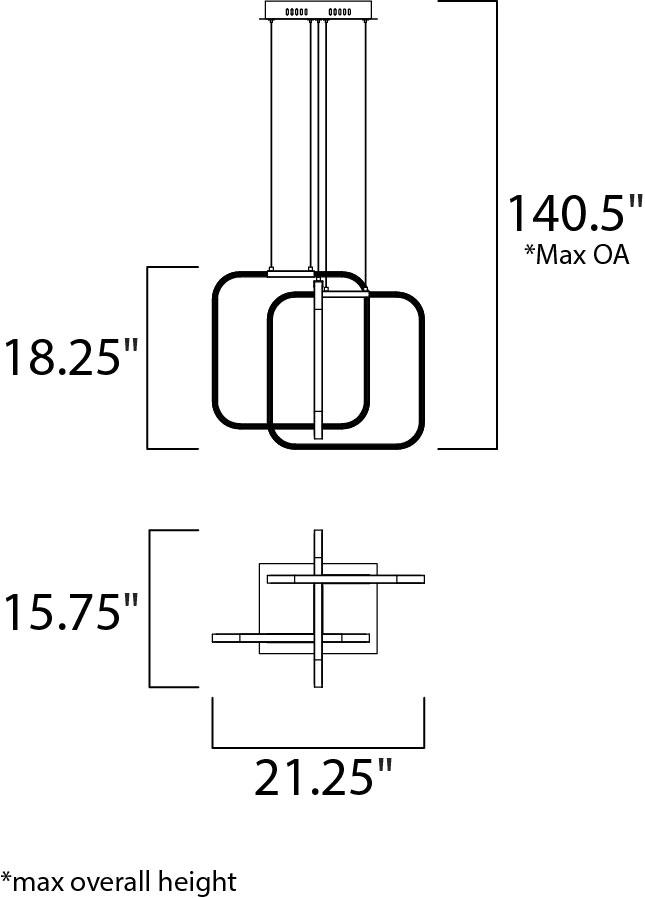 squared led pendant