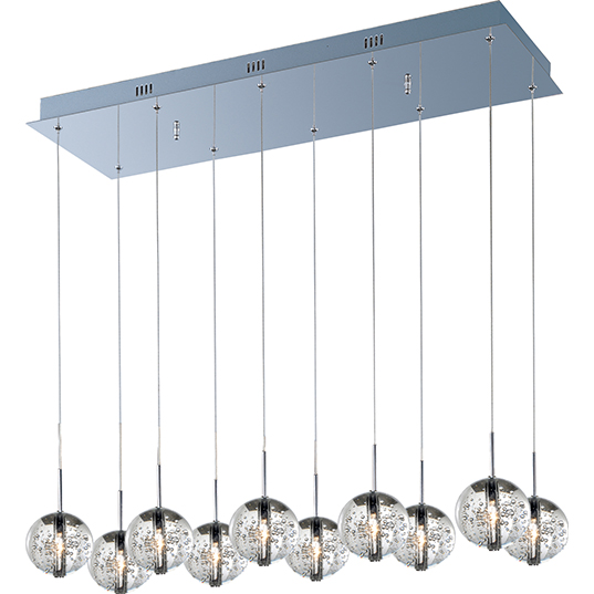orb 10 light pendant linear pendant maxim lighting